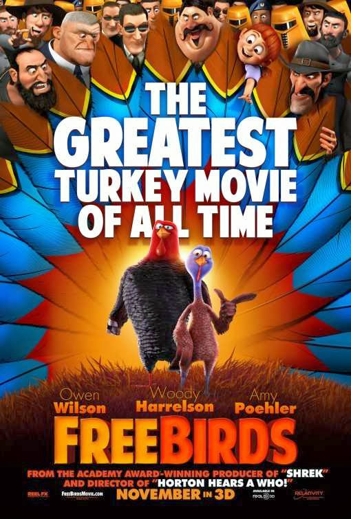 Poster Of English Movie Free Birds (2013) Free Download Full New Hollywood Movie Watch Online At Alldownloads4u.Com