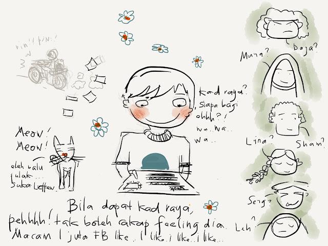 Ipad Paper Sketch Kad Raya Kartun