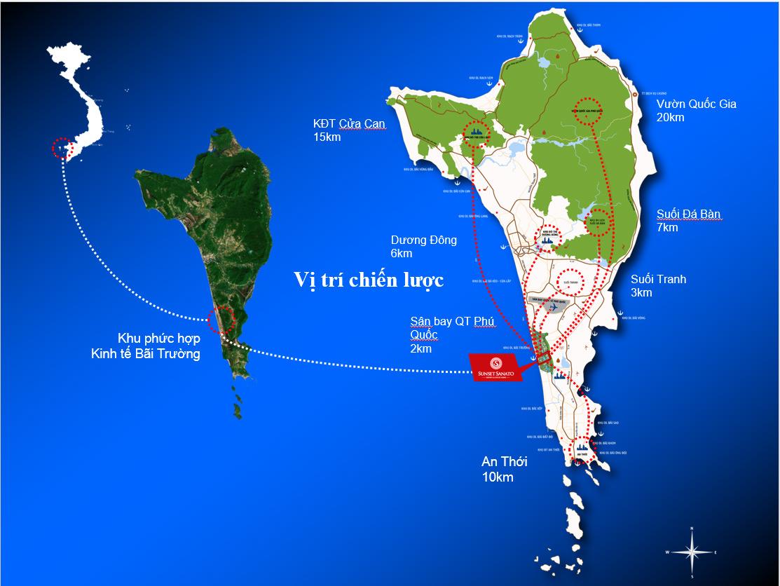 vị trí dự án trên đảo Phú Quốc