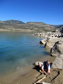 Shore of Joe's Valley Reservoir