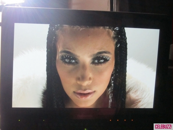 Kim Kardashain braided look for her new music video