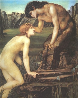 Pan and Psyche by Edward Burne-Jones