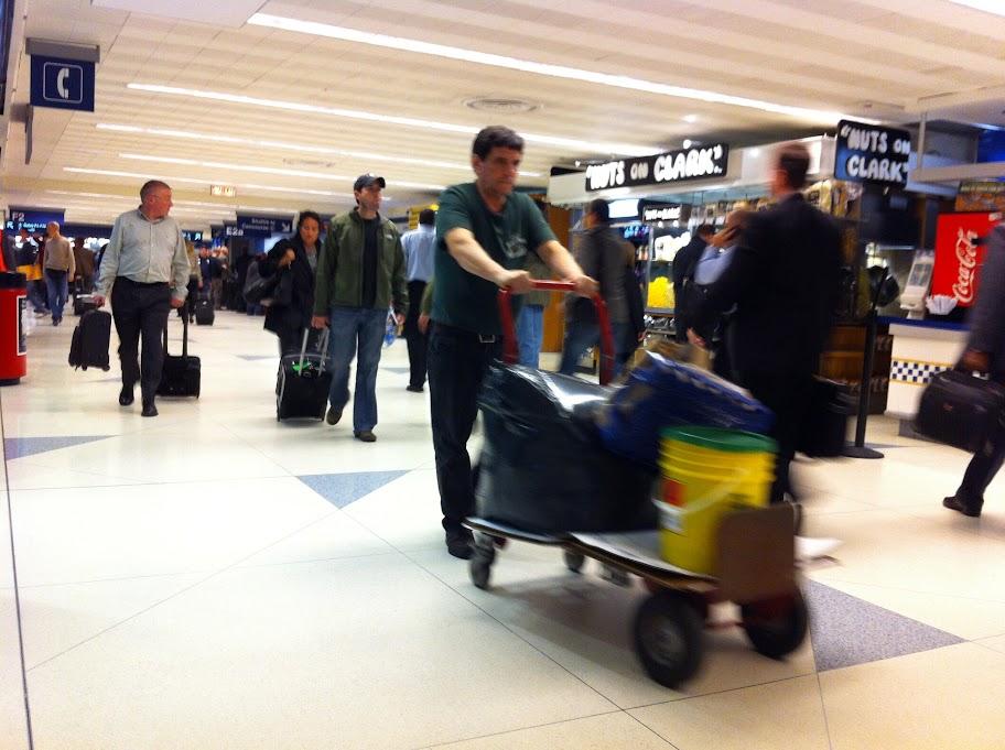 Etwas chaotisch - Der Flughafen in Chicago