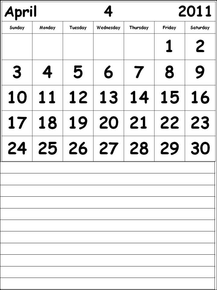 calendars 2011 april. 2011 April Calendar (Apr 2011)