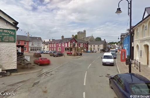 colourful town centre of Tregaron