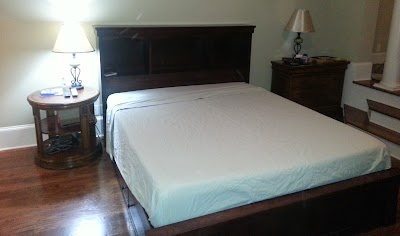 Custom Platform Bed in Rich Cherry
