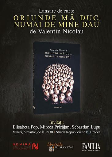 Lansare de carte Oriunde mă duc numai de mine dau, de Valentin Nicolau #1