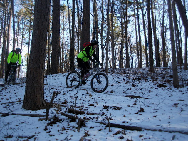 Kage and Jim riding the Berryman Trail