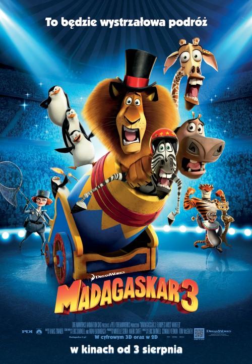 Plakat filmu Madagaskar 3