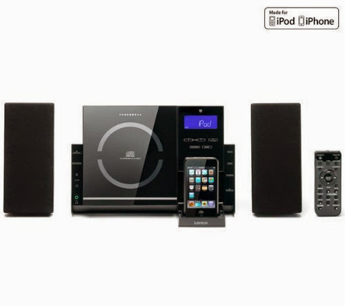 Hi-fi Ipod Iphone Lenco Mci-210 Home Audio System Cd Mp3 USB Sd AUX