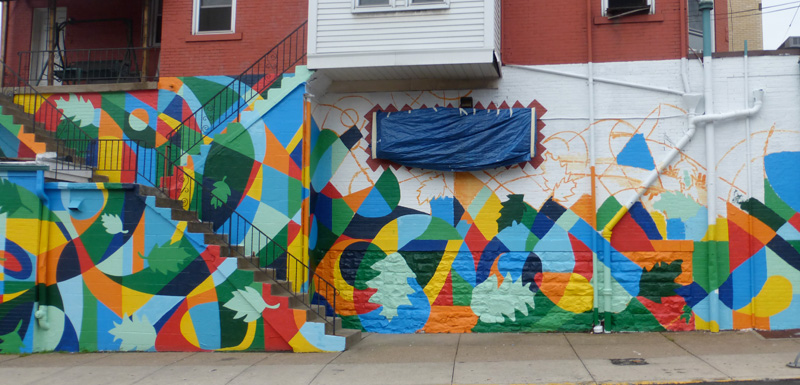 Mural 370 atwood st oakland pittsburgh for Mural go green