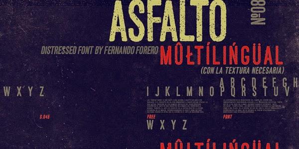 ASFALTO Free Fonts