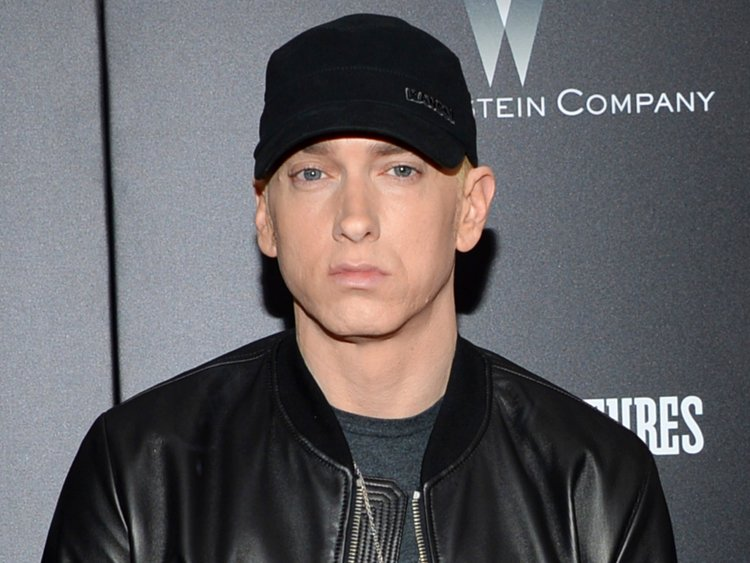 A photograph of Eminem at a red carpet event.