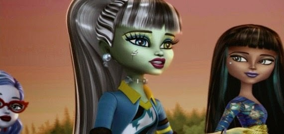 Screen Shot Of Hollywood Movie Monster High (2014) In Hindi English Full Movie Free Download And Watch Online at Alldownloads4u.Com