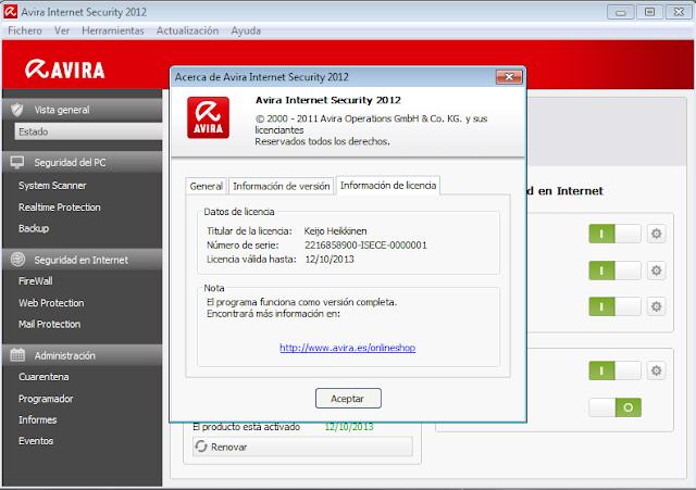 Felix salguero avira internet security 2012 full for Decor8 crack