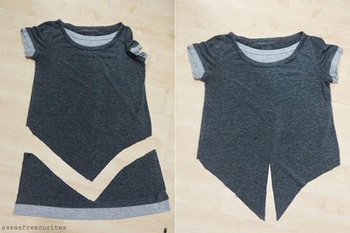 DIY - como fazer camiseta com nozinho - customização