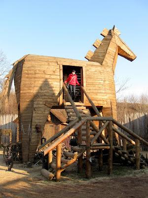 Zamek Śląskich Legend - koń trojański