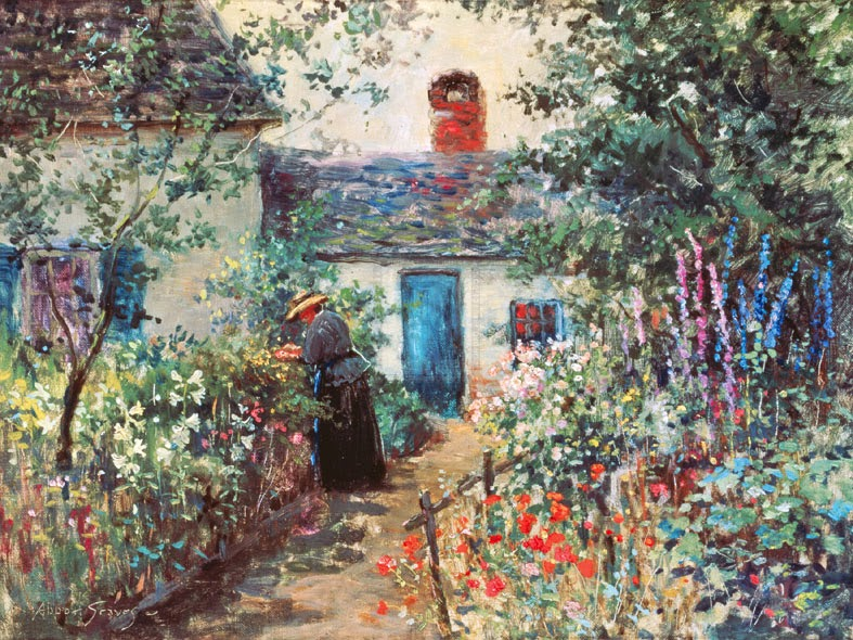 Abbott Fuller Graves - Flower garden, Kennebunkport, Maine