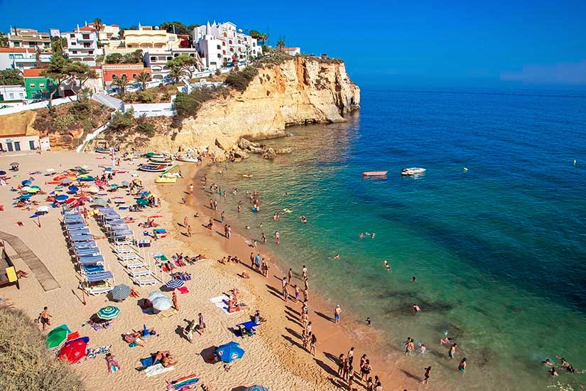Praia do Carvoeiro, Algarve.