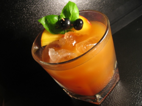 Vanilla Seabuckthorn Bourbon Cocktail