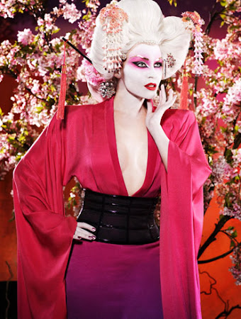 maquiagem Kylie Minogue de geisha