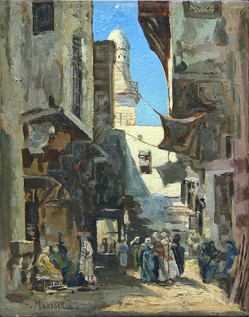 Nikolay Makovsky - Street In Cairo