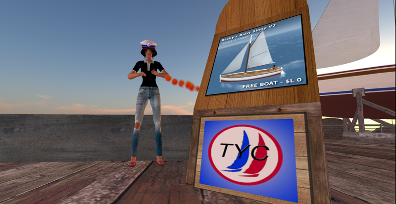 Becca Moulliez and the Becky's Baby Sloop V2 - Tradewinds