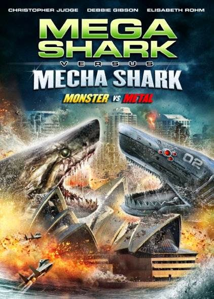 Poster Of English Movie Mega Shark vs. Mecha Shark (2014) Free Download Full New Hollywood Movie Watch Online At Alldownloads4u.Com