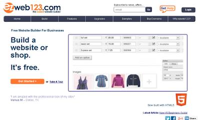 Ezweb123.com free online website builders