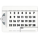 Perpetual Calendar Clipboard