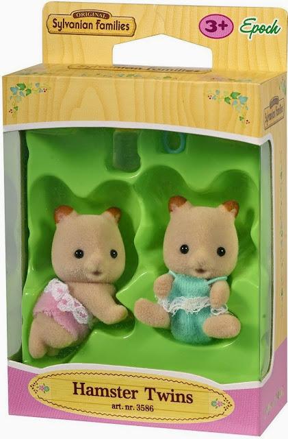 Đồ chơi Chuột Hamster sinh đôi Sylvanian Families 3586 được sản xuất từ chất liệu an toàn