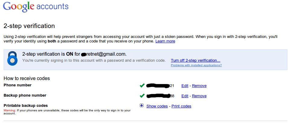 Informasi Di Dunia Maya Cara Menonaktifkan Turn Off 2 Verification Gmail Account