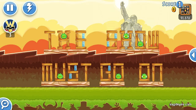 Angry Birds Friends: Freddie For A Day Level 6 - The Show Must Go On