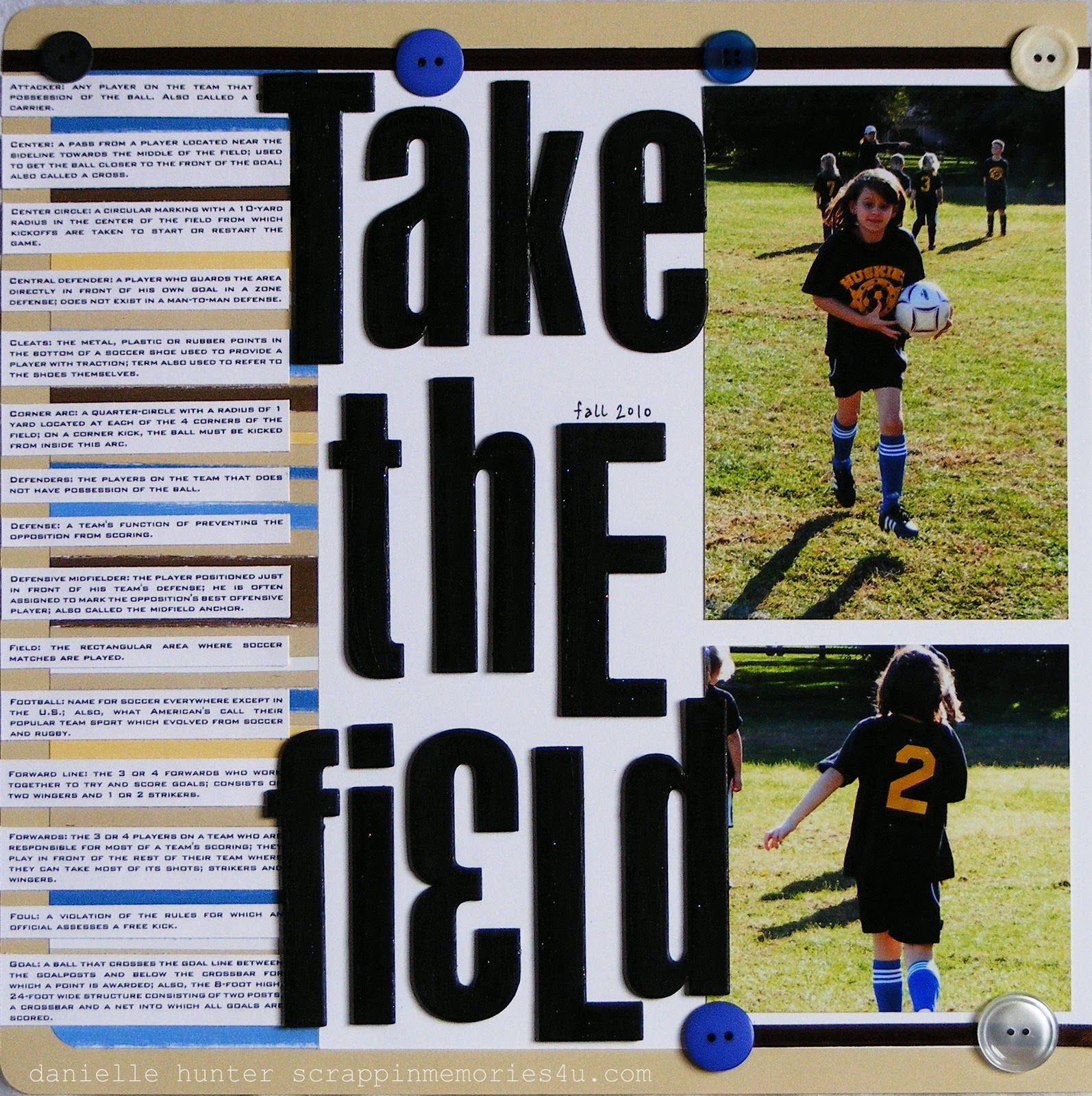 Scrapbook ideas writing - I Didn T Feel Like Writing The Typical Journaling Since I Had Recently Completed Another Soccer Scrapbook Layout So I Opted For A Soccer Glossary