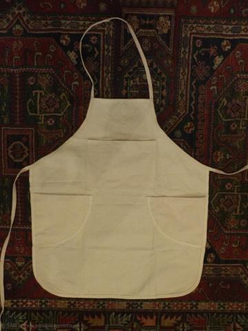 apron, studio, lino print, linocut