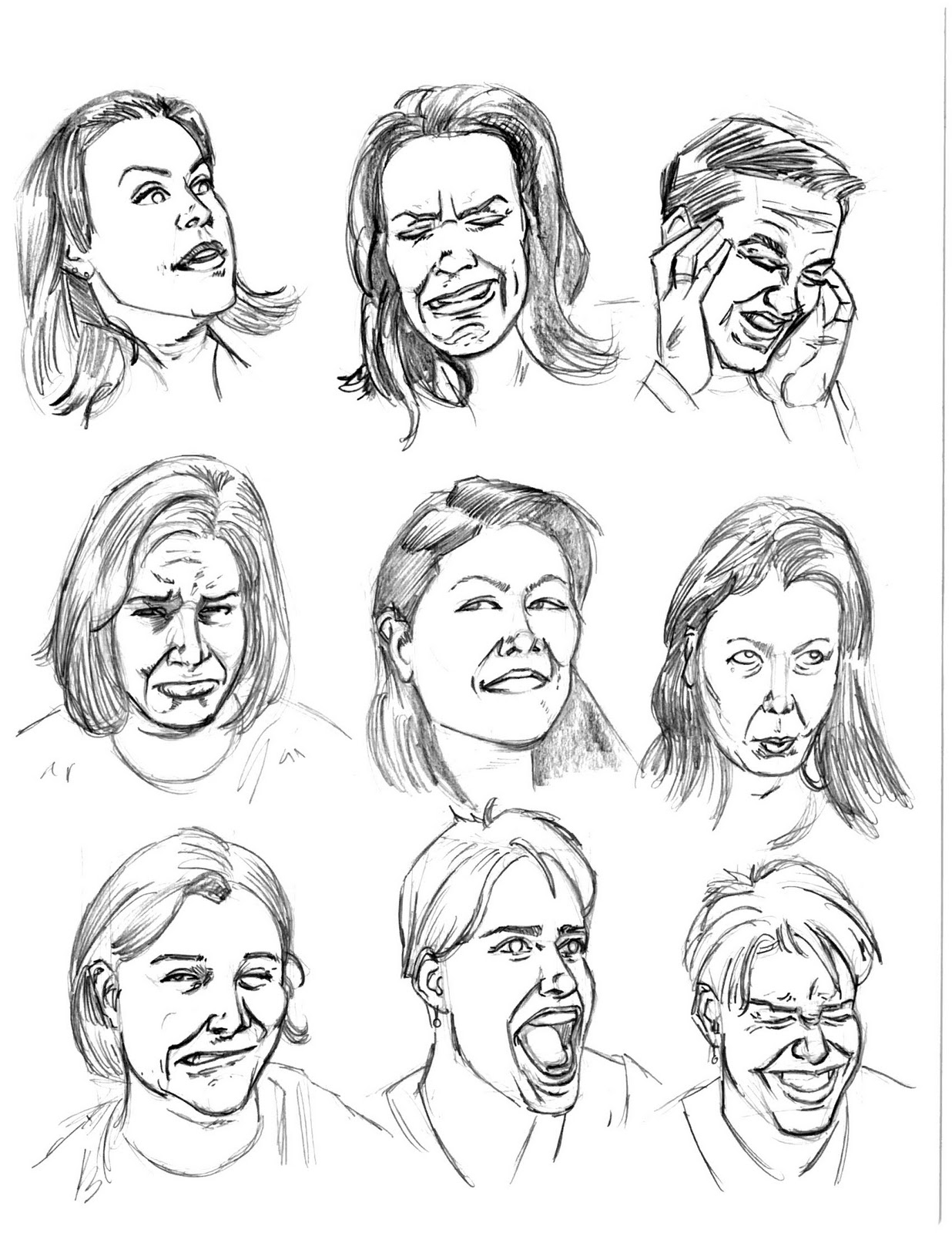 Expressions Reference Drawing Facial Expressions a Visual