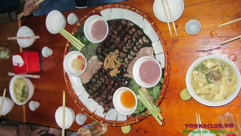 Thịt chó Kỳ Đồng Yên Bái đầy đủ các món