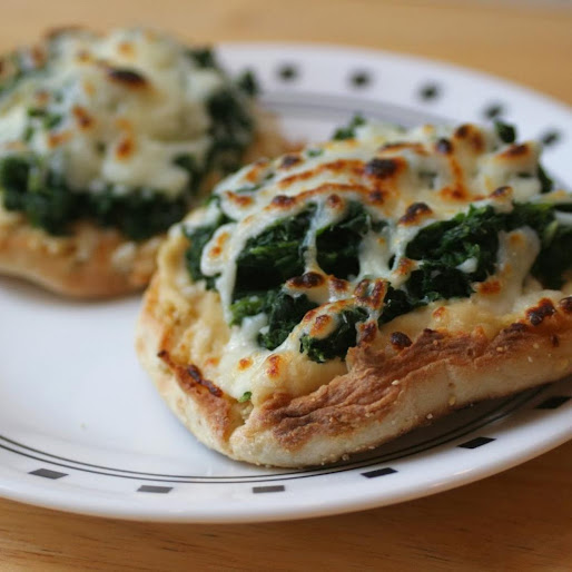 Spinach Hummus Melts