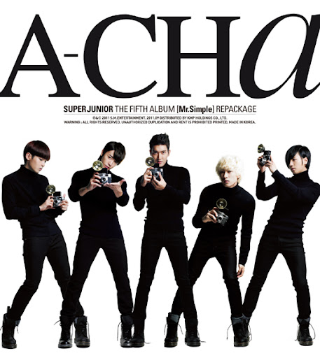 "Super Junior releases repackaged album ""A-Cha"" tracklist"