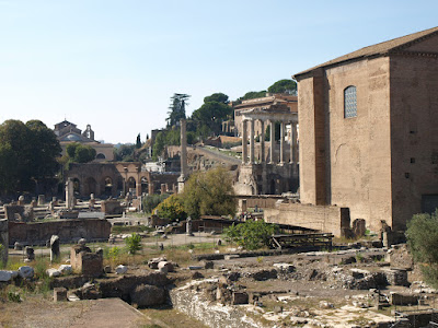 View of ruins inside the Forum.
