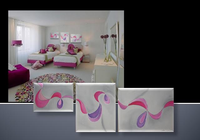 Cuadros abstractos florales arma tu serie nuevos - Cuadros habitaciones infantiles ...