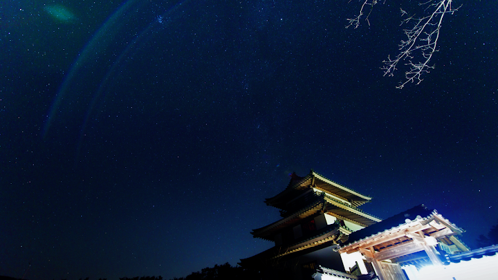 Starry Night Japan wallpaper