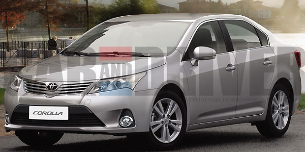 The Figure of 2013 Toyota Corolla Altis Comes