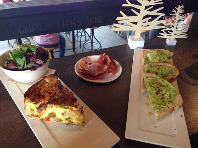 Tout Suite, Houston Food, Quiche, Avocado Toast