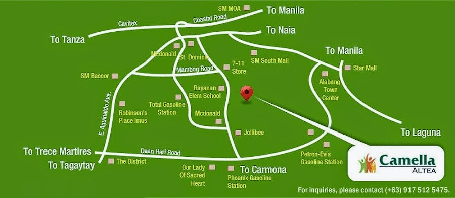 Vicinity Map Location - Camella Altea | Crown Asia Prime House for Sale Bacoor Cavite