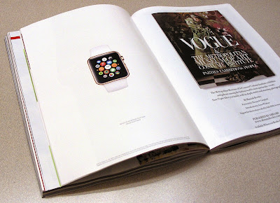 Apple watch ad in Vogue Magazine Mar. 2015
