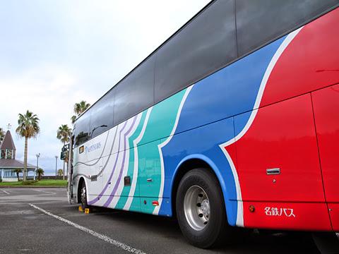名鉄バス「グラバー号」 リアから 大村湾PAにて