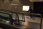 Watch out in Louiville...they have bike cops in the airport there!  (It's easier than using the people mover)