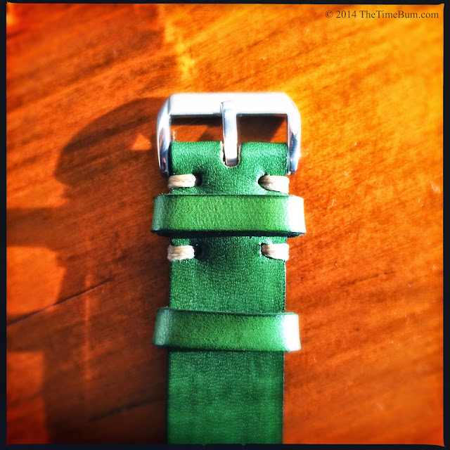 J Grant's General Store leather strap green
