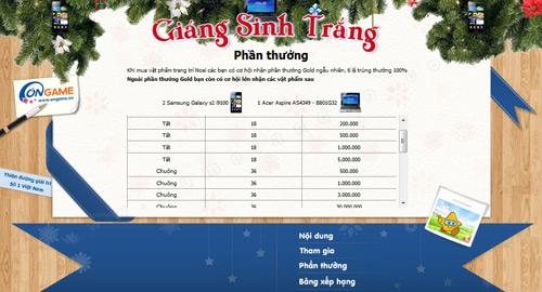 Ongame tặng Samsung Galaxy S2 i9100 đón Giáng sinh 2